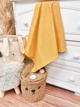 Deka vaflík 100/75 cm žlutá