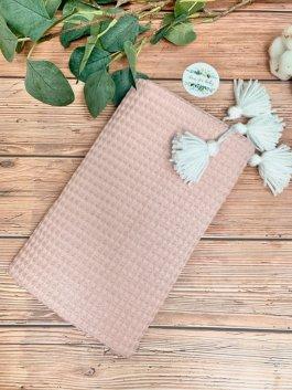 Deka vaflík 100/75 cm pudrově růžová