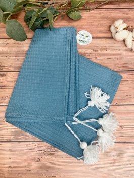 Deka vaflík 100/75 cm modrá