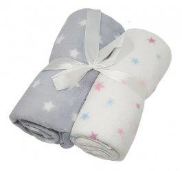 Dětská deka 2 kusy / hvězdičky
