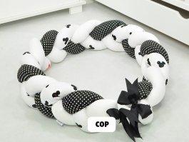 Zvětšit Mantinel cop pletený myšky bílé