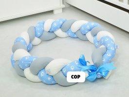 Zvětšit Mantinel cop pletený modří sloni