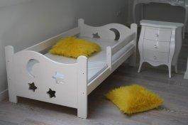 Postýlka Bohoušek 180/80 cm bílá s matrací a roštem