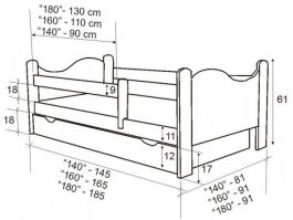 Postel Bohoušek 180/80 cm + rošt ( výběr matrací )