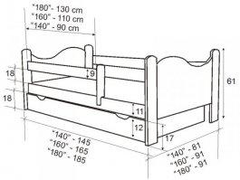 Postýlka Bohoušek 160/80 cm bílá s matrací a roštem
