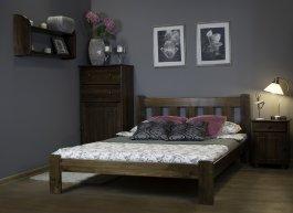 Zvětšit Postel Bára 90 x 200 cm ořech masiv borovice