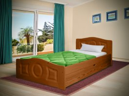 Postel Comfort se šuplíkem 90/200 cm - masiv 3,5 cm