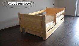 Dětská postel 180x80 cm Daduš + šuplík + matrace