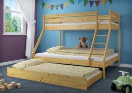Patrová postel Denisek  + rošty + matrace a šuplík