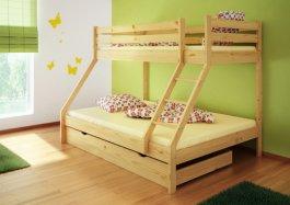 Zvětšit Patrová postel Denis + rošty + matrace + šuplík