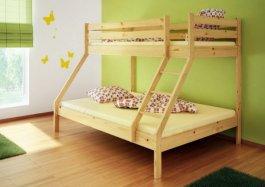 Patrová postel Denis + rošty a matrace