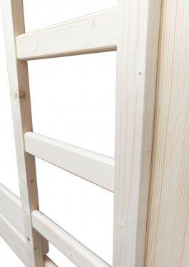Patrová postel Jarek 80/200 cm + 120/200 cm + matrace + zásuvky - šedá