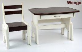 Stůl + židlička B1 - regulace výšky wenge
