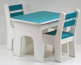 Stůl +židličky se šuplíky K2 ocean