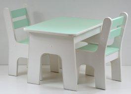 Stůl +židličky se šuplíky K2 máta