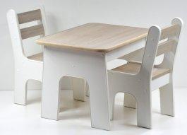 Stůl +židličky se šuplíky K2 světlý buk