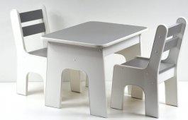Stůl +židličky se šuplíky K2 grafit