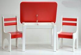 Stůl a dvě židličky K1 - červená