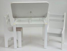 Stůl a dvě židličky K1 - šedá