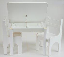 zväčšiť obrázok Stol a dve stoličky K1 - biela