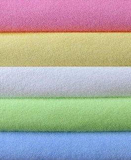 zväčšiť obrázok Plachta froté s gumkou 160/70 cm - 5 farieb