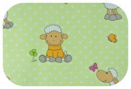 Zvětšit Plena flanel potisk - zelené ovečky