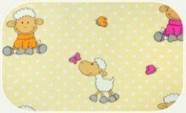 Plena flanel potisk žluté ovečky