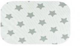 Plena flanel potisk bílá - šedé hvězdy