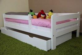Dětská postel Jirka 180x80 cm + šuplík + matrace bílá