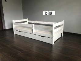 Dětská postel Jirka 180x80 cm + šuplík + matrace - bílá