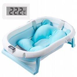Dětská vanička Premium - skládací - modrá
