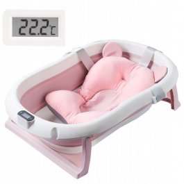 Dětská vanička Premium - skládací - růžová
