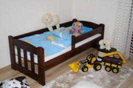 Dětská postel 160x70 cm Honzík ořech+matrace+prostěradlo