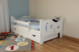Postýlka Bohoušek 180/80 cm bílá s matrací a šuplíkem