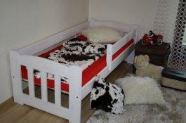 Bílá postel 160x70 cm Honzík+matrace+prostěradlo