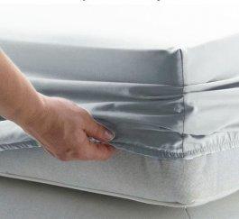 Jersey prostěradlo s gumkou 90/200 cm - světle šedá