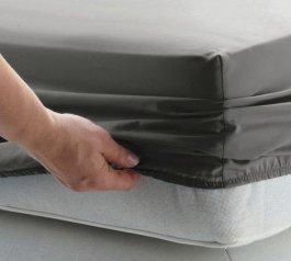 Jersey prostěradlo s gumkou 120/200 cm - šedá