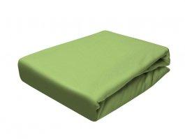 Prostěradlo jersey LUX s gumkou 160/70 cm - zelená