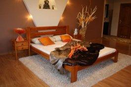 Zvětšit Postel Karina 140x200 olše - masiv borovice
