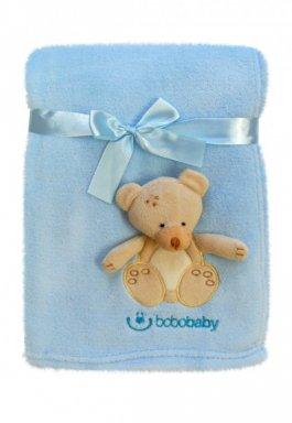 Dětská deka a 3D aplikací - modrá