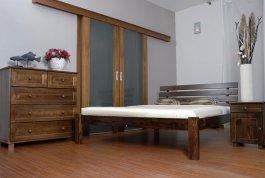 Postel Klára 160 x 200 cm ořech - masiv borovice