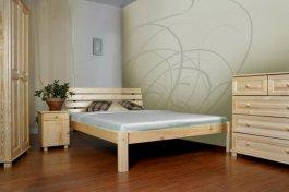 Postel Klára 140 x 200 cm masiv borovice + rošt