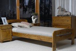 Zvětšit Postel Bohdana 90 x 200 cm dub masiv borovice