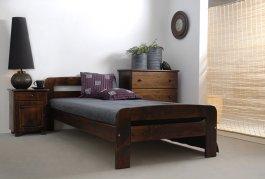 Postel Bohdana 90 x 200 cm ořech masiv borovice