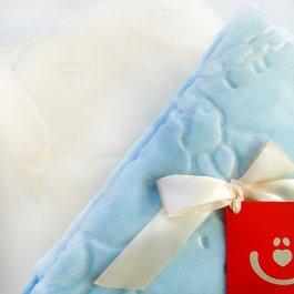Zvětšit Dětská plyšová deka méďa - modrá