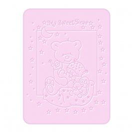 Dětská plyšová deka méďa růžová