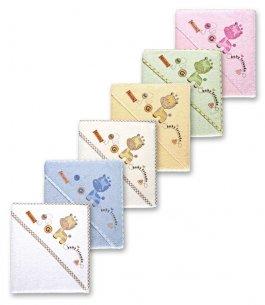 Zvětšit Dětská osuška froté s kapucí žirafka  6 barev