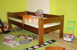 Dětská postel 160x70 cm Kristián dub+matrace+prostěradlo
