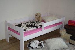 Bílá postel 160x70 cm Kristián+matrace+prostěradlo