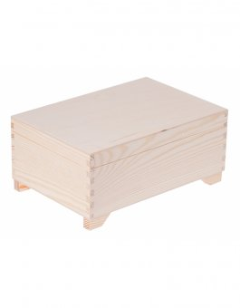 Kufřík sosna - 20x29x13 cm - s přihrádkami